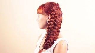 Прическа из косичек в 2х вариациях. Hairstyle of braid (in 2 variants)(Подписывайтесь на мой канал http://www.youtube.com/user/4OXYGENE Прическа из обратных французских косичек выглядит намног..., 2013-08-26T19:34:48.000Z)