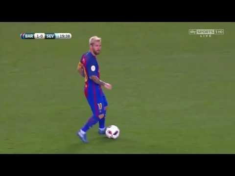 Leo Messi vs Sevilla ● Supercopa de España 17.08.2016