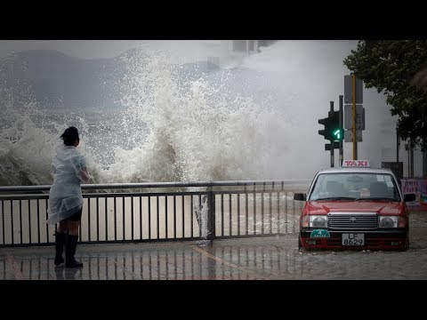 Typhoon Hato wreaks havoc in Hong Kong