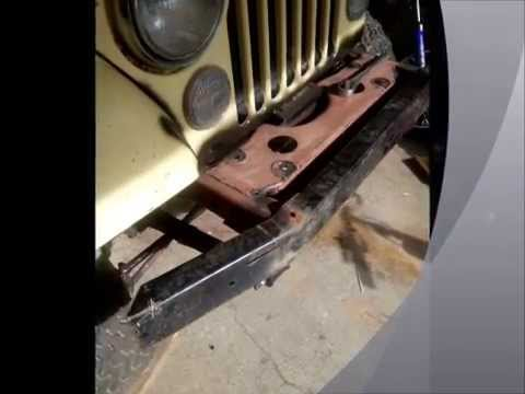 how to fix a jeep cj7 bumper in 30 minutes