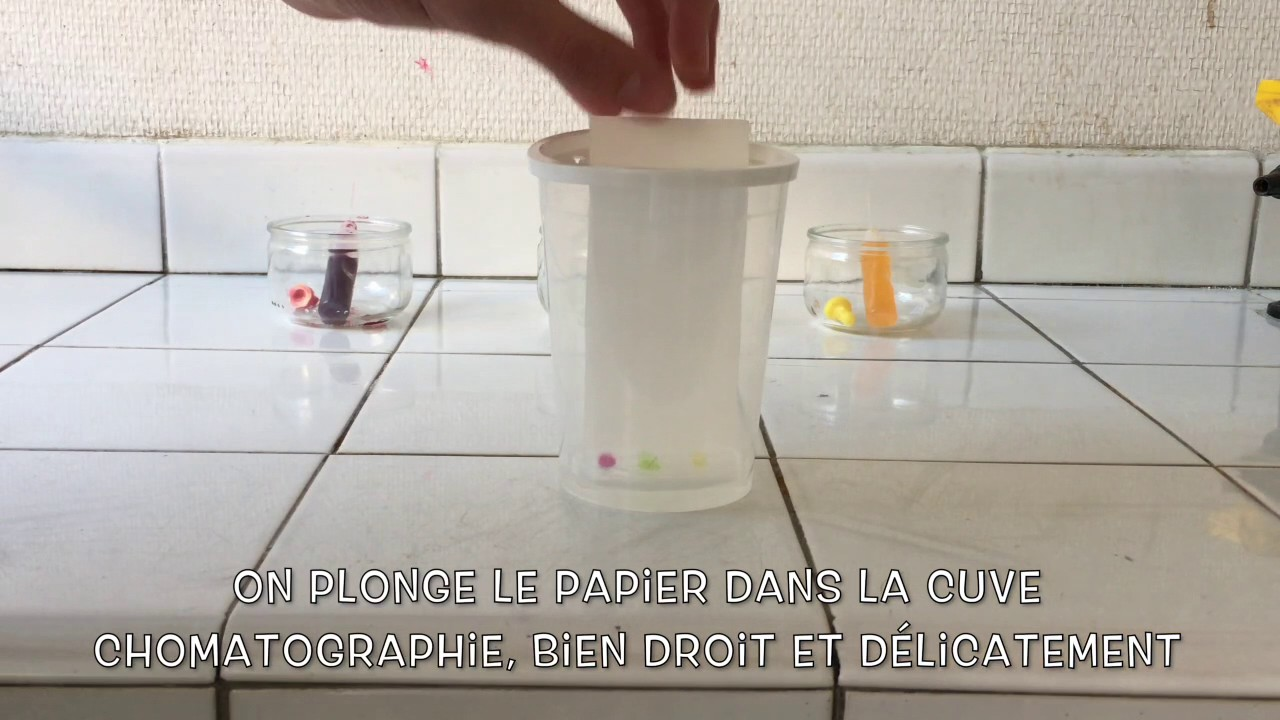 Chromatographie sur couche mince ccm de colorants alimentaires youtube - Chromatographie sur couche mince ...