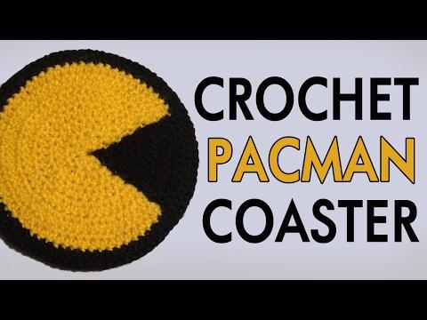 Crochet Pacman Coaster