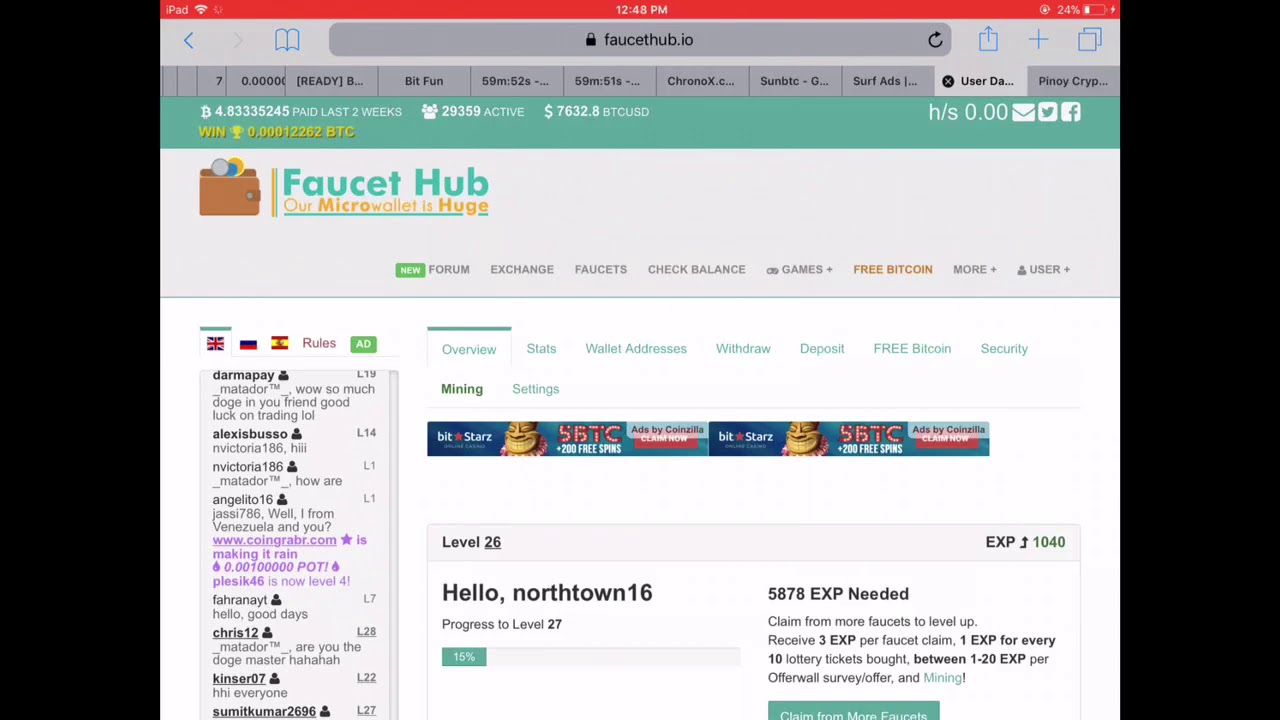 FaucetHub Setup - How to link Coinpot and withdraw to CoinsPH