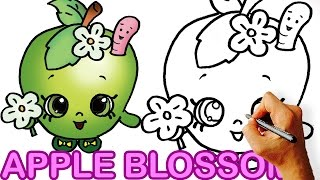 How to Draw Apple Blossom from Shopkins for Kids