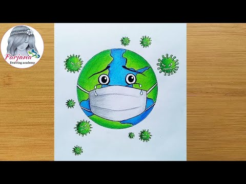 Drawing Of Coronavirus Save Earth From Corona Virus Awareness Safety Poster Youtube