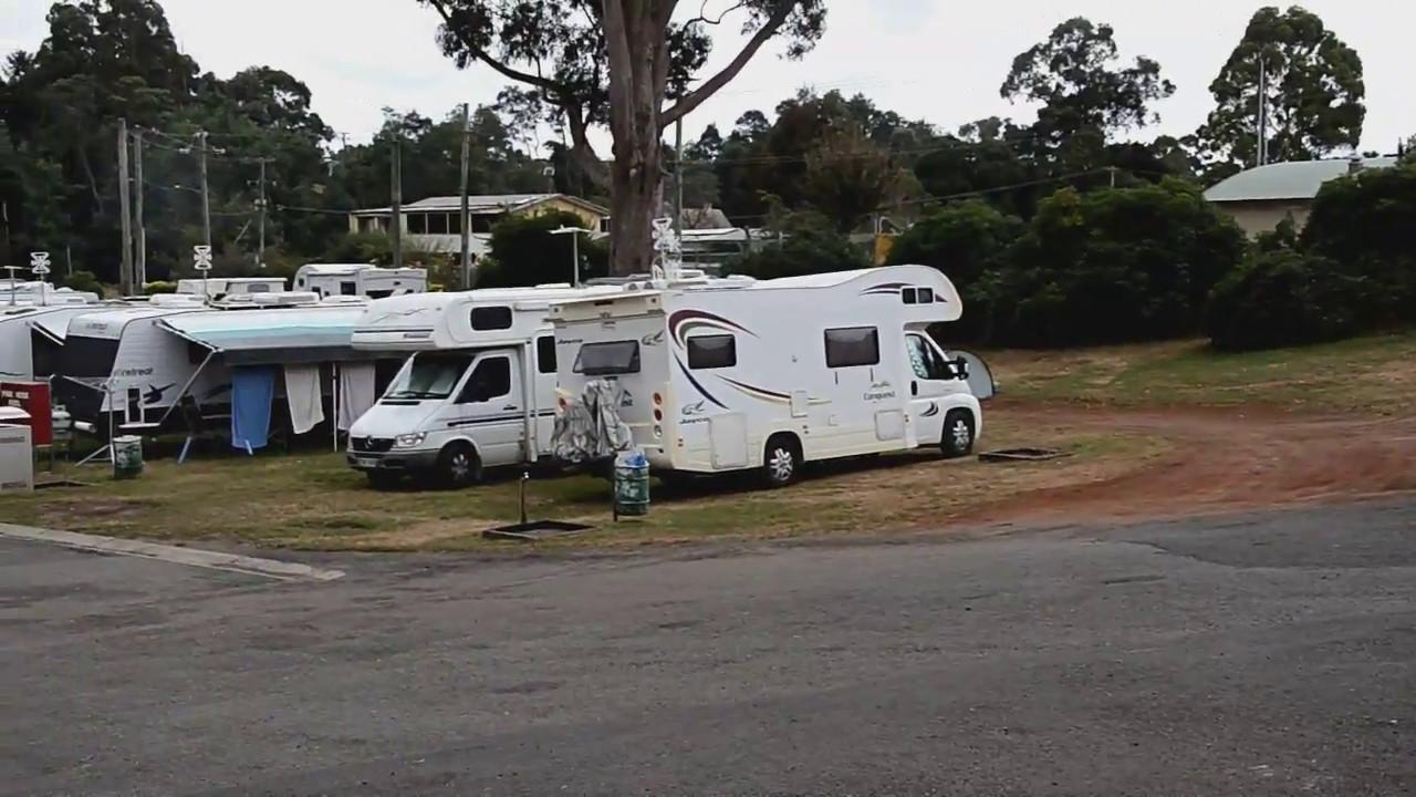 North East Caravan Park Campground Video Scottsdale Tasmania