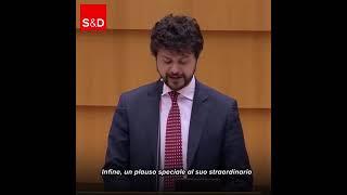 Intervento durante la Plenaria a Burxelles di Brando Benifei, capo delgazione Pd al Parlamento europeo, sull'attivita' del mediatore europeo.