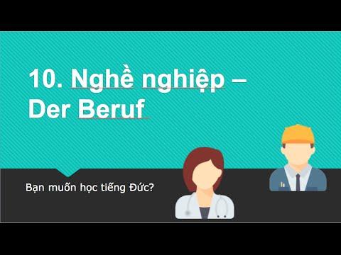 Học tiếng Đức - Chủ đề: Nghề nghiệp - Der Beruf