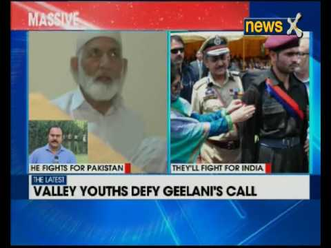 Youths in valley defy Syed Ali Shah Geelani's call