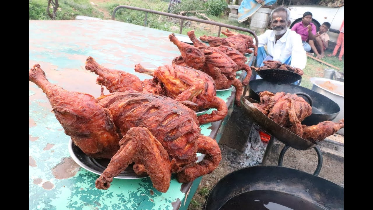 FULL CHICKEN FRY Prepared my DADDY in my Village / Village food factory