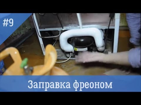 видео: Заправка бытового холодильника
