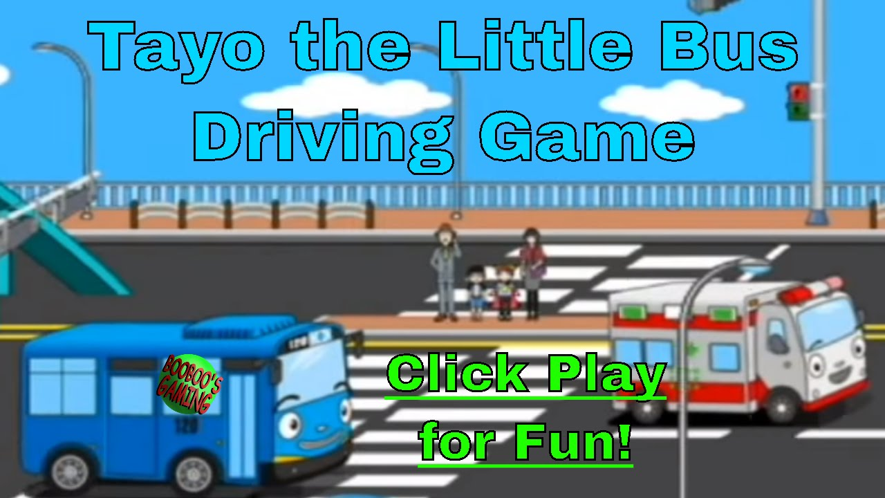 Tayo The Little Bus Driving Game Level 1 Android Game Free Educational Games For Kids Youtube