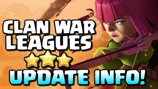 Clan War Leagues UPDATE | New October Info for CoC | Clash of Clans |