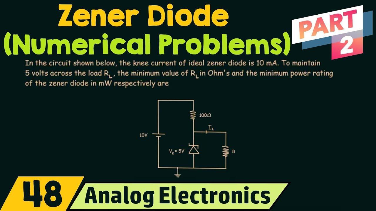 Zener Diode Numerical Problems Part 2 Youtube Circuit Diagram Numericals