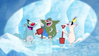 हिंदी Oggy and the Cockroaches ⛄❄ SNOW TIME ❄⛄ Hindi Cartoons for Kids