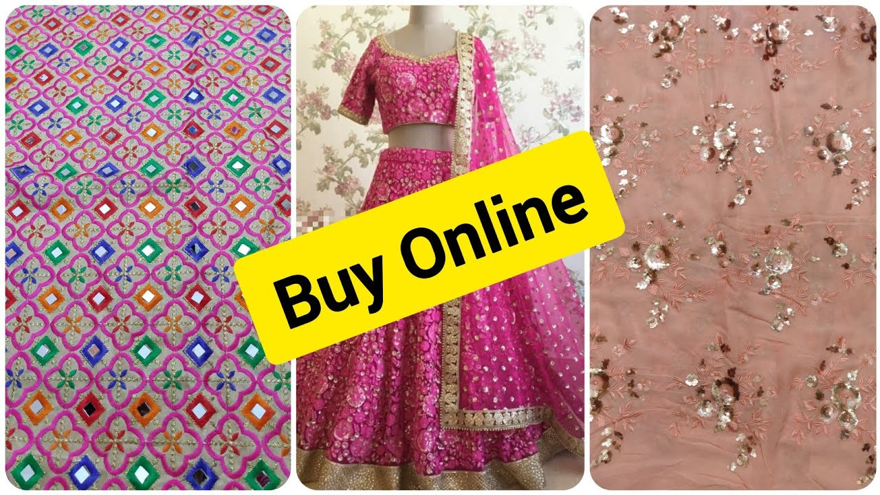 Buy Designer Fabric Online#Newcollection #Partywearfabric #Saree or Kurti  Fabric