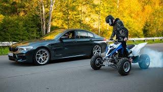 Заруба 840 л.с. BMW M5 F90 vs КВАДРОЦИКЛ. Неожиданный исход