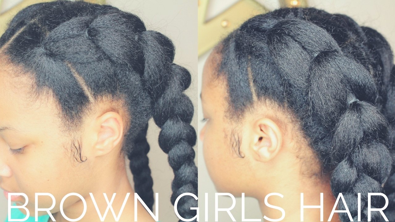 Fake Cornrows Hairstyle | Natural Hair Girls - YouTube