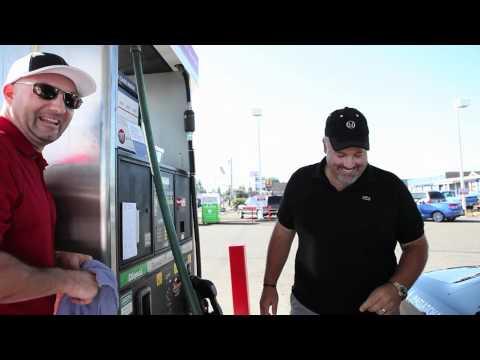 Matt and Chris Stop for Fuel in Oregon