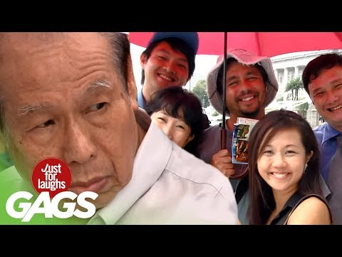 Uninvited Strangers Share Same Umbrella Prank - JFL Gags Asi