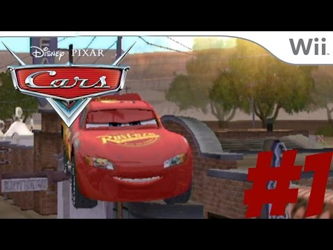 Cars:The Videogame - part 1 - Wii - Zooming through the Air like MJ!