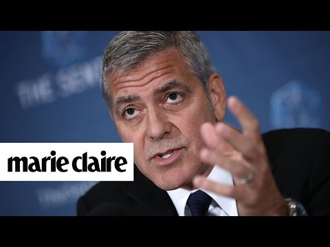 George Clooney Finds Out Mid-Interview About Brangelina's Divorce and More News | Marie Claire