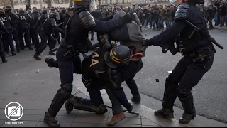 Paris : Manifestations contre les violences policières, affrontements à République - 18/02/17