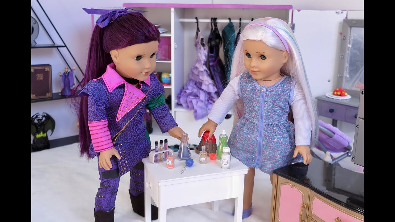 American Girl Doll Disney Descendants Mal Routine Youtube