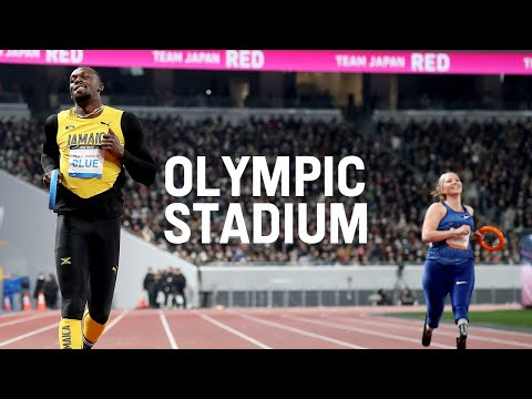 Sneak Peak of the Olympic Stadium (Feat. Usain Bolt on the Tokyo 2020 track)