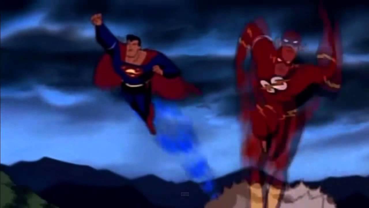 Flash vs Superman : CARRERA - YouTube