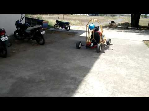 First drive  of go kart at Dr v b kolte college of engineering