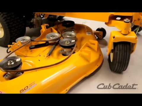 How To Change The Deck Belt On A Cub Cadet Zero Turn Riding Lawn Mower Using Model 17ai2ack056