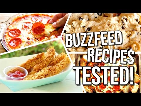 Buzzfeed Food Recipes TESTED! | Courtney Lundquist