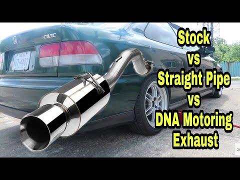 92-2000 Honda Civic Muffler Install. D16Y8 Exhaust. Stock - straight pipe - DNA Motoring