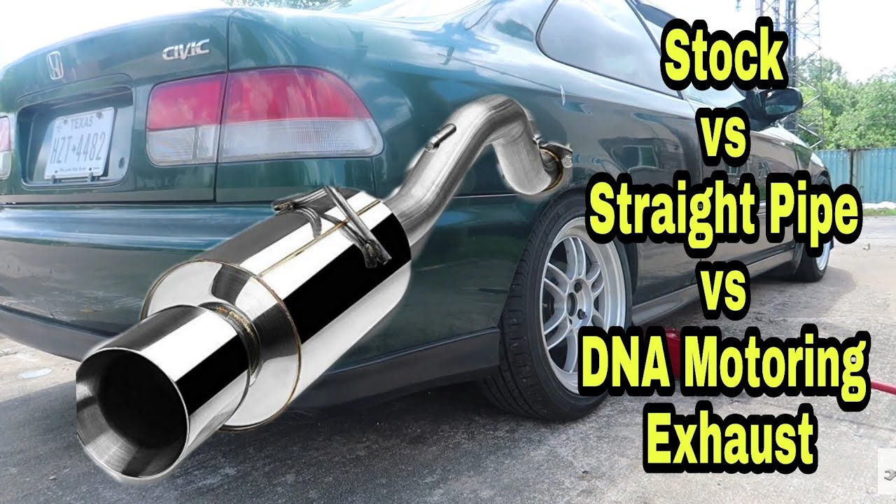 92 2000 honda civic muffler install d16y8 exhaust stock straight pipe dna motoring