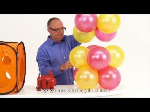 Curso de decoracion con globos parte 5 youtube - Decoracion de globos ...