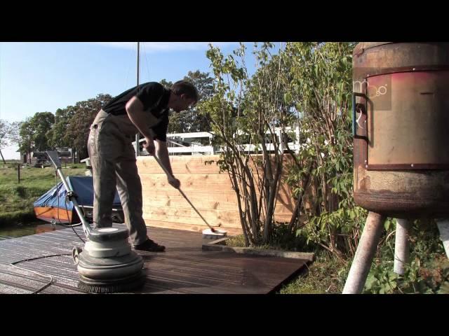Bamboe vlonderplanken plaatsing en onderhoud video (MOSO Bamboo X-treme)