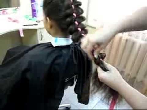 Плетение косы с лентой Способ 1 (Наталья Ткаченко)