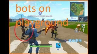 How to play with bots on Fortnite playground in Fortnite battle royale