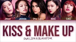 Blackpink & Dua Lipa - 'kiss And Make Up' S Color Coded Eng Rom Han
