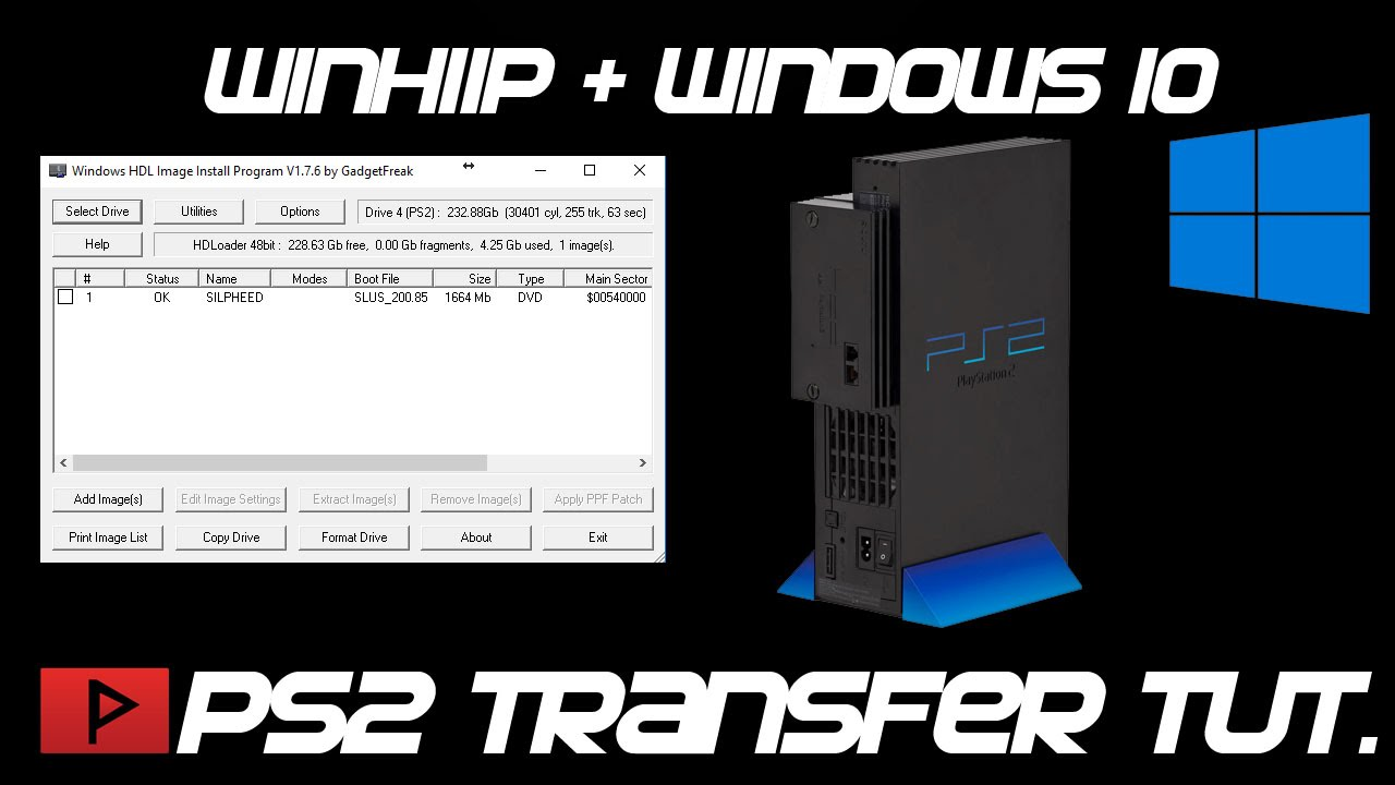 How To Use Winhiip With Windows 10 To Transfer Ps2 Games Tutorial Youtube