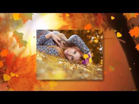 Осеннее настроение - шаблон слайд-шоу