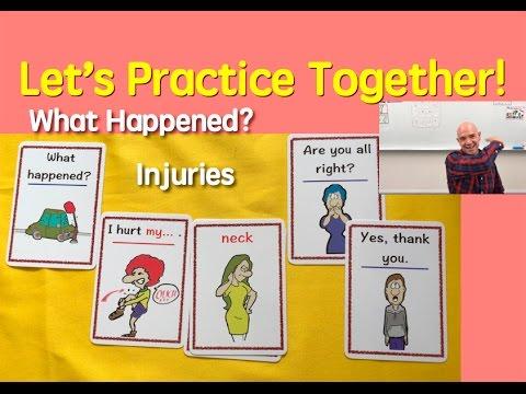 Card Game | What Happened? | Injuries | 10 | English Speaking Practice | ESL | EFL | ELL
