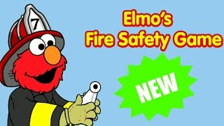 Sesame Street Elmo's Fire Safety Educational Kids And Children Games