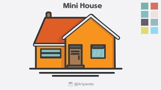 How to create Mini house icon 🏠 illustration using adobe illustrator