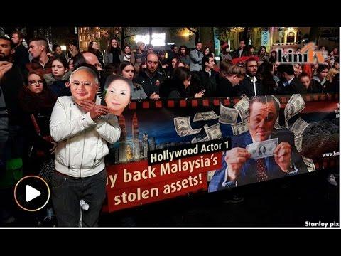Bantahan di London terhadap DiCaprio berhubung skandal 1MDB