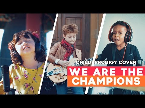 Queen Tribute - We Are The Champions - Child Prodigy Cover   Maati Baani