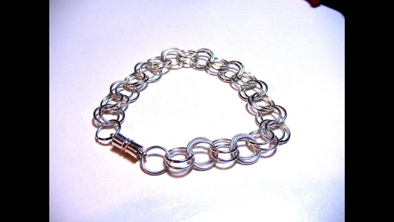Abalorios Maualidades - Realizar pulsera con anillas - YouTube