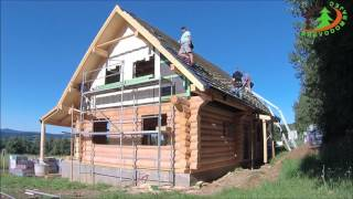 Drevodom Rajec dokončovanie zrubového domu