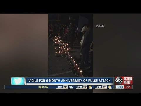 Vigils held to remember victims of Pulse shooting on 6 month anniversary
